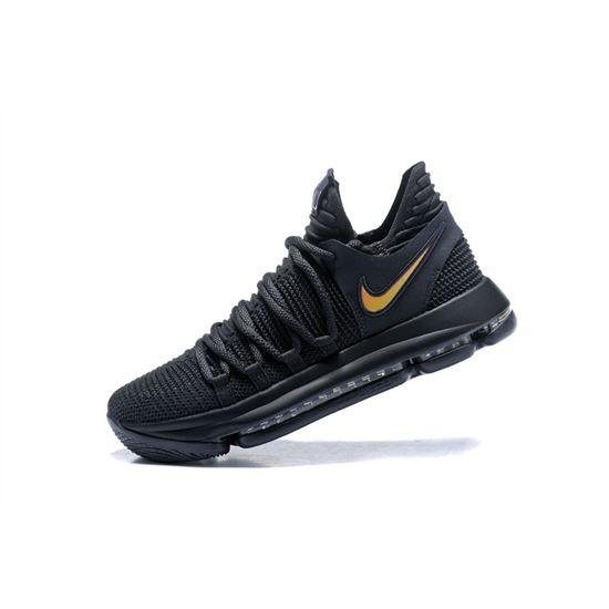 Nike KD 10 PK80 BlackMetallic Gold Men's Basketball Shoes