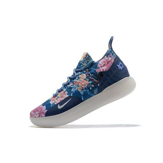 Nike KD 11 Floral Blue Basketball Shoes