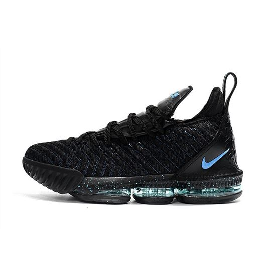 Nike LeBron 16 BHM Black Blue For Sale