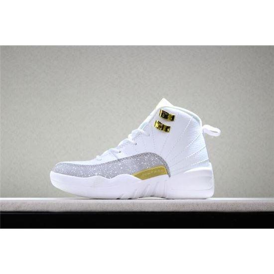 Kid's Air Jordan 12 OVO White White